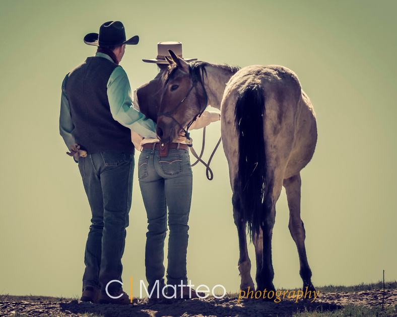 Brent and Kris Graef in Canyon, Texas conducting one of their Young Horse clinics